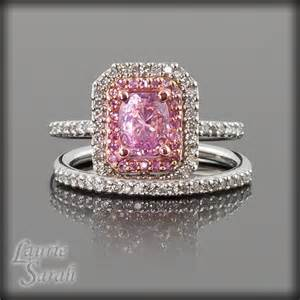 two tone engagement rings white and gold pink sapphire and engagement ring by lauriesarahdesigns