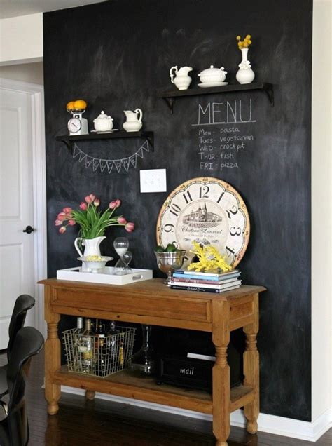 34 Chalkboard Kitchen Wall Ideas To Get Inspiration