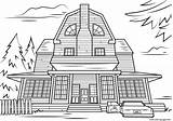 Haunted Coloring Pages Halloween Scary Printable Mansion Adult Drawing Colouring Houses Amityville Spooky Print Template Categories Crafts sketch template