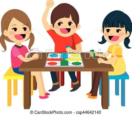 kids playing board game  happy friends kids sitting