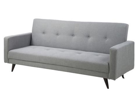 canapé lit de qualité canapé lit 3 places en tissu de qualité lexon gris clair