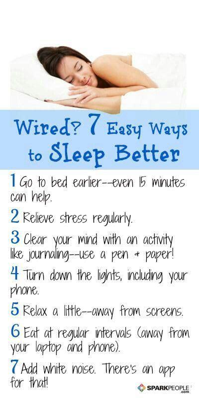 7 Ways To Sleep Better  Helpful Hints Pinterest