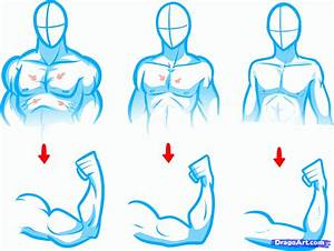 how to draw anime bodies, draw anime body figures step 6