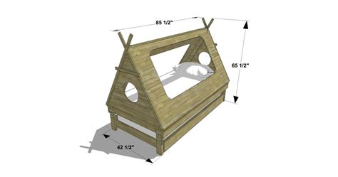toddler trundle bed diy furniture plans how to build a kid 39 s teepee trundle