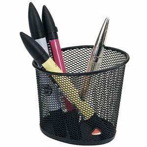Pot A Crayon : pot crayon m tal mesh noir alba vente d 39 ensemble de bureau la centrale du bureau ~ Teatrodelosmanantiales.com Idées de Décoration
