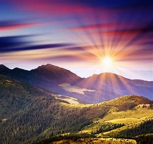 Majestic Mountain Sunset | Majestic sunset in the ...