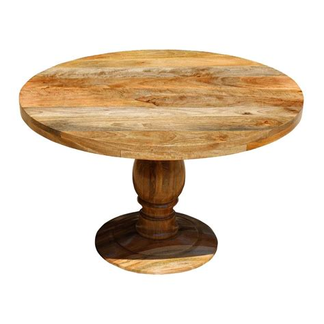 mango wood kitchen table rustic mango wood 48 quot pedestal dining table