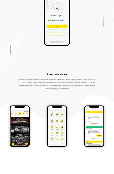 sprent ios android app  behance  images