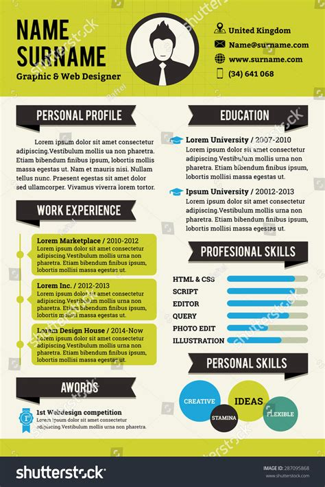 green personal curriculum vitae template simplicity