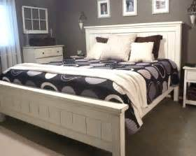 white farmhouse headboard white king farmhouse bed diy projects