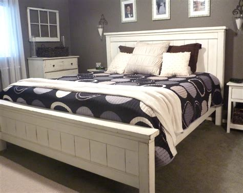 diy king bed frame white king farmhouse bed diy projects Diy King Bed Frame