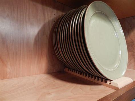 wood plate rack  vertical plate storage
