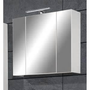 photo armoire salle de bain miroir 3 portes