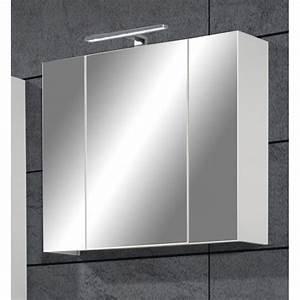 Armoire Salle De Bain Miroir 3 Portes