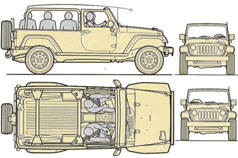 4 door jeep drawing jeep j8 chrysler b jgms military army light wheeled