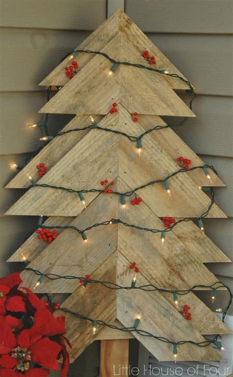 tree diy pallet christmas rustic pallets trees amazing creative decor wood xmas decorations crafts ways porch front tour simple holiday