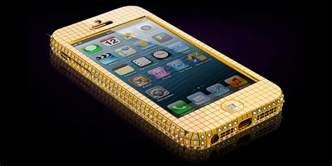 gold phone solid gold iphone 5 encrusted with diamonds only 100 000