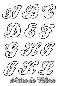 resultado de imagen de letras en cursiva para dibujar monogramas moldes de letras patrones