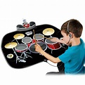 KIDS ELECTRONIC DRUM KIT STICK TOUCH PLAYMAT MUSICAL TOY ...