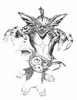 Gremlins Coloring Pages Gizmo Colouring Gremlin Horror Sketch Adult Sketches Drawings Sketchite Scary Quote Template sketch template