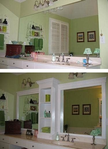 How To Revamp A Large Bathroom Mirror  Diy Cozy Home