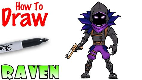 draw raven fortnite youtube
