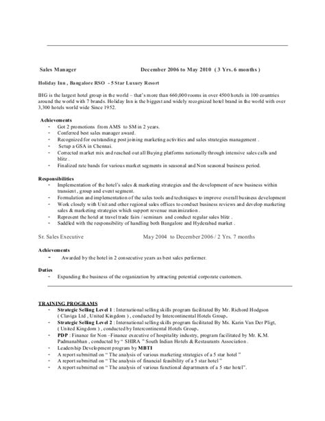 best hotel sales manager resume