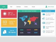 Metro Admin Dashboard Template for PowerPoint Free