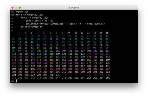 computer color codes build your own command line with ansi escape codes