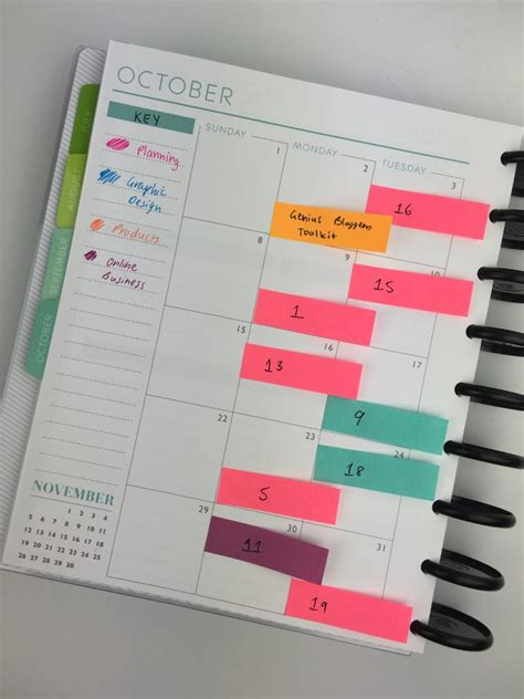 ways  plan  sticky notes   planners
