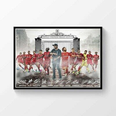 Liverpool FC Premier League Champions 2019 2020 Signed A4 ...