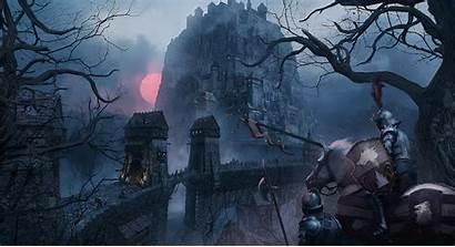Knight Medieval Fantasy Digital Castle Horse Shield
