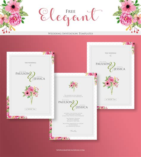 Free Elegant Wedding Invitation TemplatesGraphic Google