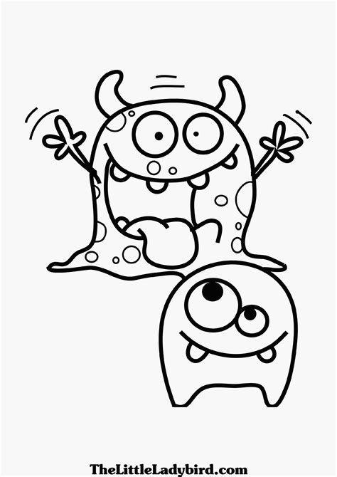 Cute Halloween Monsters Coloring Pages ? Festival Collections