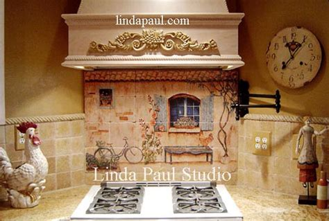 mural tiles for kitchen decor country kitchen backsplash tiles wall murals 7052