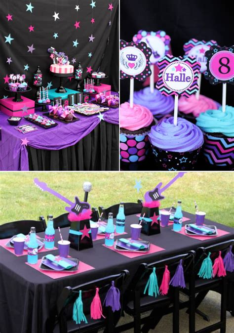 pailyn s bash girly party ideas kara 39 s party ideas girly rock pink birthday