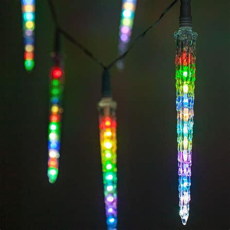 novelty lights rgb cascading icicle lights  led lights