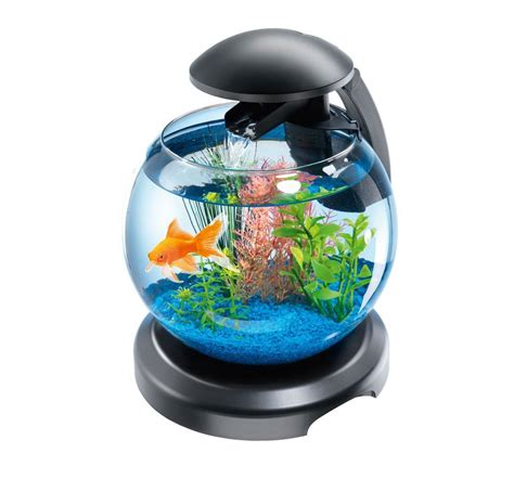 tetra cascade globe led light waterfall feature fish tank glass bowl aquarium ebay