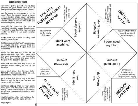 paper fortune teller template printable fortune teller template calendar templates