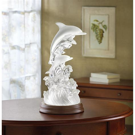 lighted dolphin figurine wholesale  koehler home decor