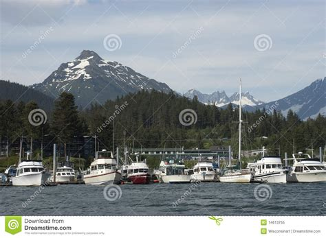 Juneau Houseboat by View Of Fishing Boats Harbor Alaska Inside Passage Royalty