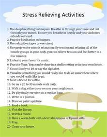 Stress Relieving Activities
