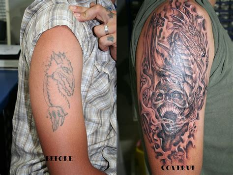 cover  tattoos dragon skull cover  tattoo