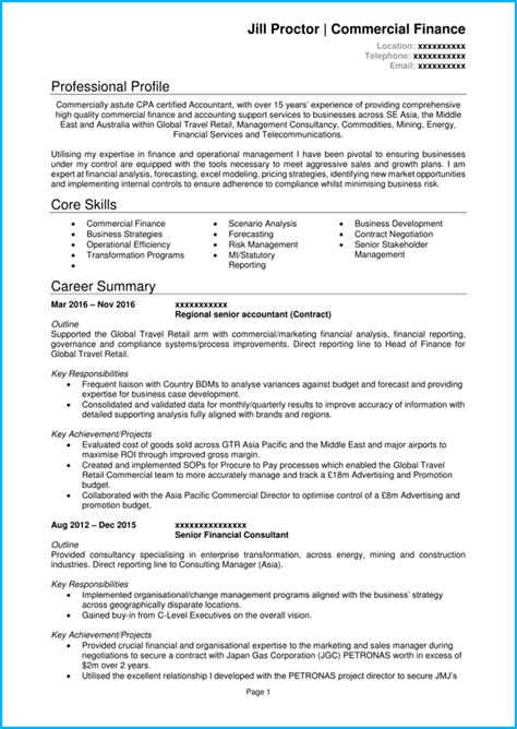 Cost Accountant Cv by Accountant Cv Exle And Writing Guide Get More Interviews