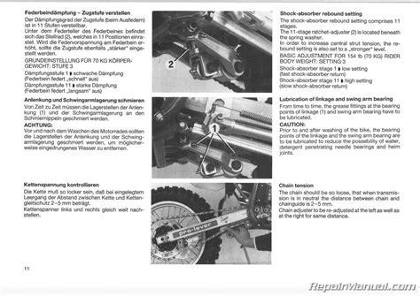 Ktm Mxc Motorcycle Owners Repair Manual