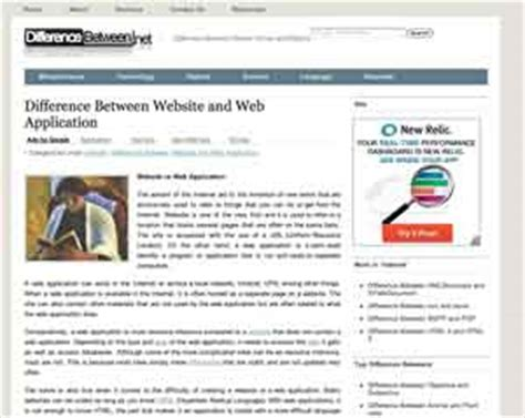 difference between website and web application difference between