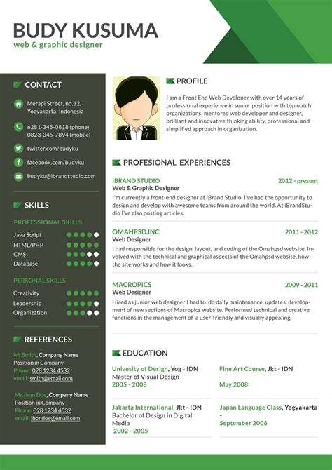 best 10 creative resume design templates flasher resume