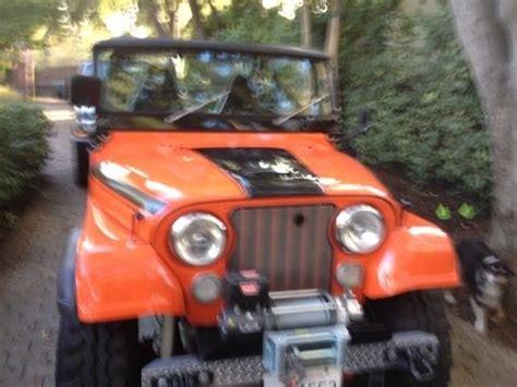 1971 orange and black jeep renegade ii classic jeep renegade 1971 for sale