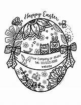 Easter Coloring Mandala Mockup Printables sketch template