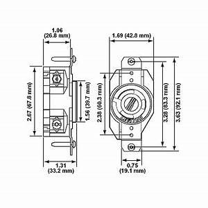 leviton 30 amp 125 volt nema l5 30r 2p 3w flush mtg With wiring nema l5 30